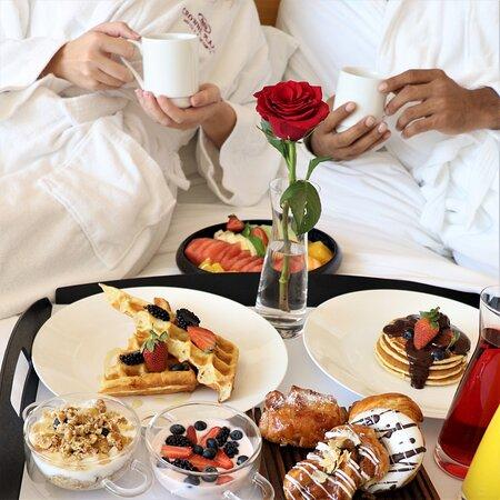 Breakfast in bed, honeymoon package