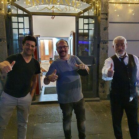 Con Maurizio Casagrande  un grande artista e un grande amico di Al 53 cuore di tradizione.