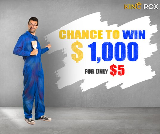 178 Tickets are left out of 400 King Rox offers a Weekly draw  Get your ticket for $5 & Win up to $1000 Go for Group Ticket to increase your winning chances Sign up here to get a 3% Discount: https://kingrox.com/signup?ref=AAE4325D5B Hurry Up Draw Date is just around the corner