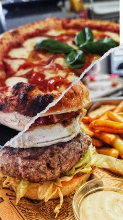 increíbles pizzas y las mejores hamburguesas en un solo lugar.