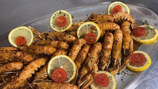 Jurandvor, Croatia: Shrimps for two
