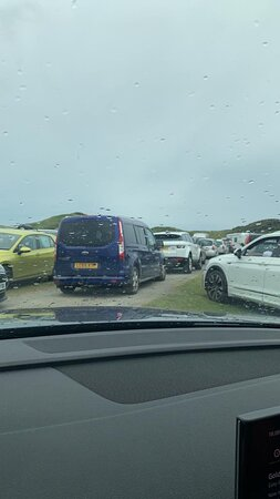 Chaos on the beach ( parking)
