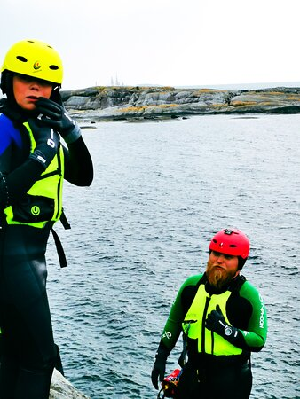 Rennesoy Municipality, Norway: Coasteering - feel nature close and wild! Still, all warm and safe - suitable for all from 6-106