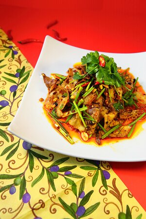 Cold dishes - Steamed pork belly with spicy garlic sauce