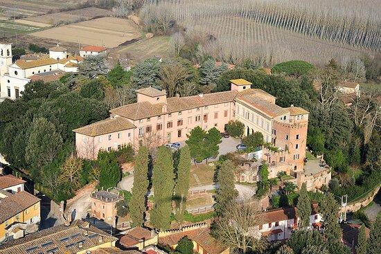Capannoli, Italien: una villa vista dall'alto