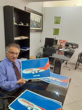 Lima Region, Peru: AeroPeru Sac Presidente Ejecutivo Cesareo VARGAS Trujillo.