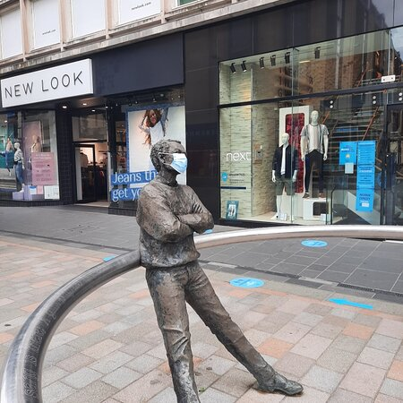 Sculpture of Pensive Man