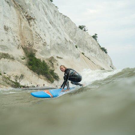 Moen, Denmark: Surfing by Møns Klint