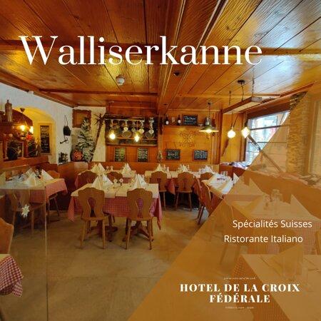 Walliserkanne restaurant, Swiss speciality and Italian ristorant