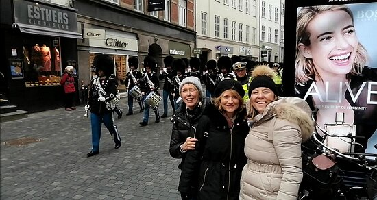 We pass Strøget, which is one of Europe's largest pedestrian streets and shopping streets