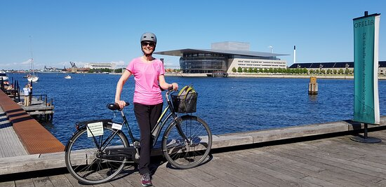In the background is the Opera House, which was designed by architect Henning Larsen and has Mærsk Mc-Kinney Møller as the initiator, client and patron.