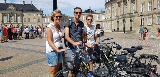 The Royal Residence Amalienborg is one of the regular routes on the guided bicycle tour