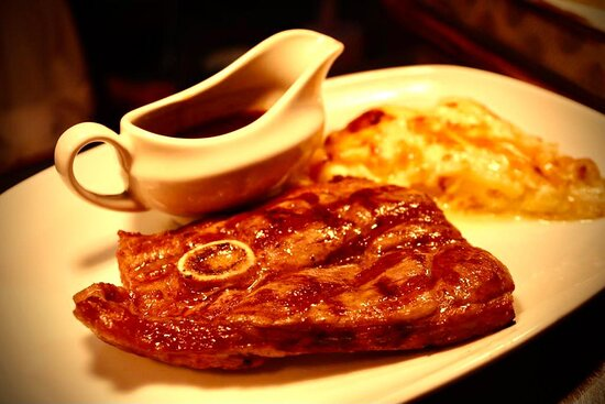 """""""Rib Eye Steak"""" with Wine Sauce another premium and one of the best on the Menu"""