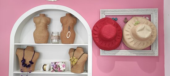 Hats and accessories shopping in AURA Fashion Shop at Agia Pelagia Crete
