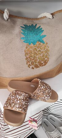 shoes and bags shopping in AURA Fashion Shop at Agia Pelagia Crete