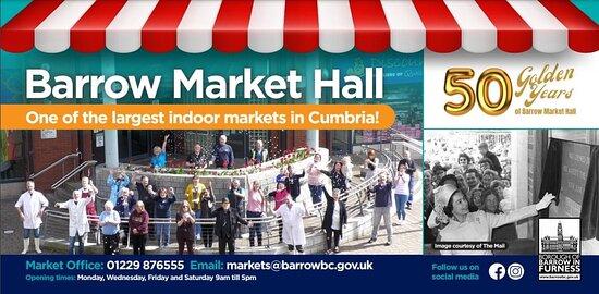 Happy 50th birthday Barrow Market Hall!
