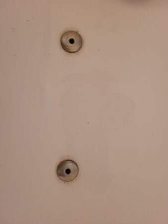 Spa Bath function not available. Every jet in the bath was filthy like this. Dirt could be scrubbed away with soap. I tried with little effort. This is a build up. Why aren't you cleaning properly?