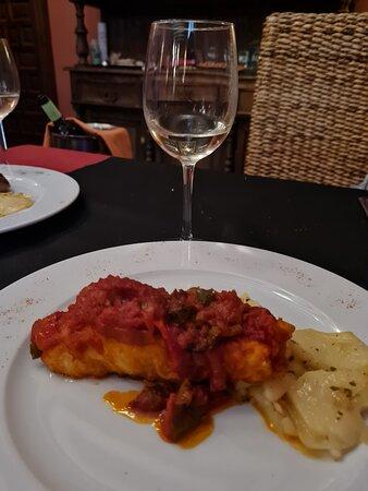 Lillo, Ισπανία: Bacalao a la riojana