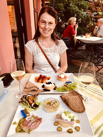 Hattersheim, Germany: We tried a variety of Handkäse one of the restaurants specialities. the concept resembles Tapas however, it is made with German products at its basis. You should try it :0)