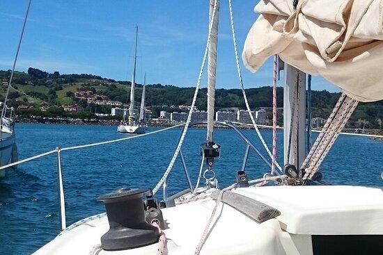 Tour en voilier en petit groupe dans la baie d'Hendaye
