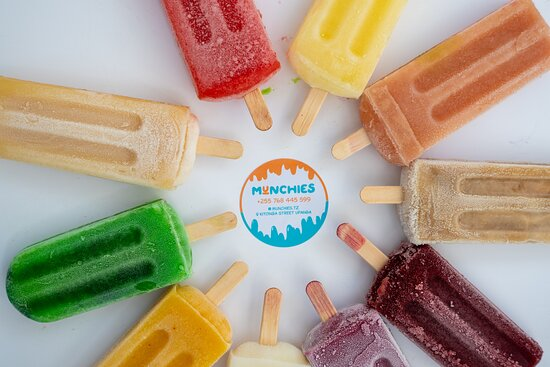 a selection of fresh fruit popsicle