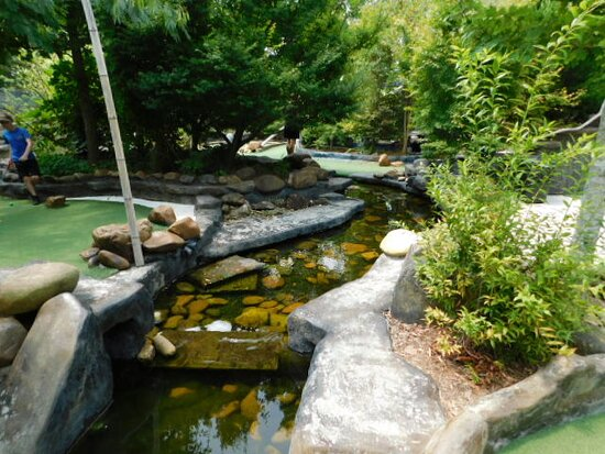 Creek like water feature
