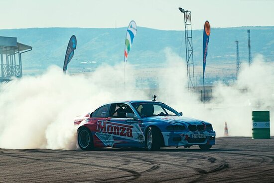 Private Race Car Drifting on Pro Track with Pro Drivers