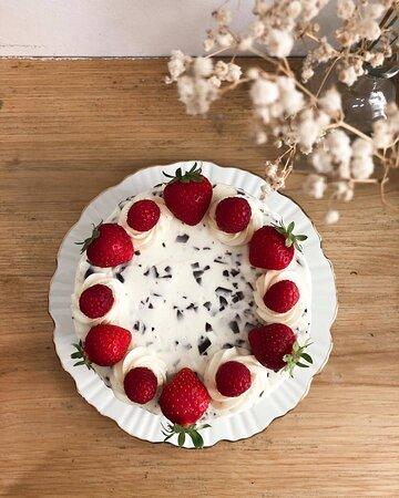 """""""Stracciatella"""" cake"""