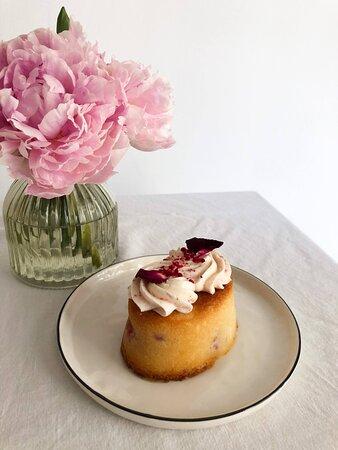 Mini cake de Frambuesa, Limón & Chocolate Blanco