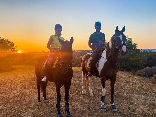 Fantastic sunset trek