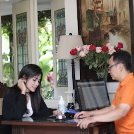 One of Our Repeater Guest, while check in time at Front Desk.