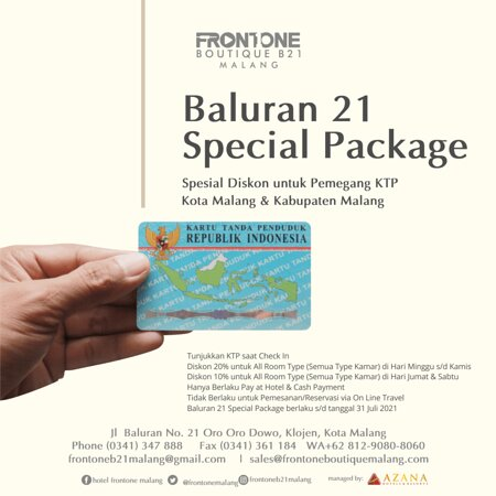 This Special Package Only for People of Malang City & Malang District
