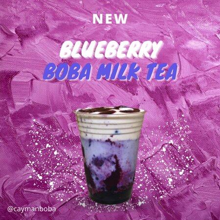 Blueberry Boba Milk Tea