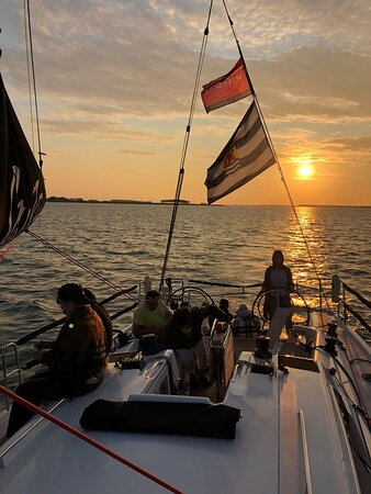 Sunset op de Oosterschelde, liefde op 't eerste gezicht.