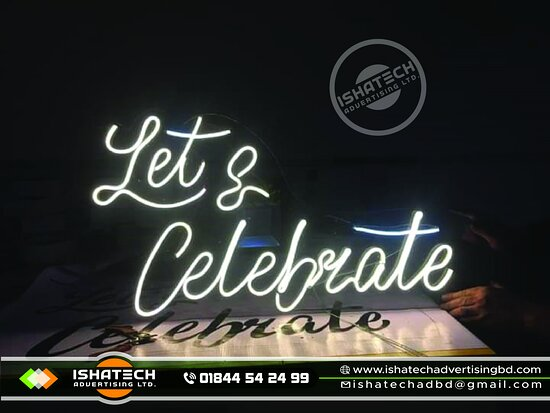 Neon Light Sign Board & Neon Sign Board, Neon Signage with Acp Board Backside Branding for Indoor & Outdoor Neon Sign in Bangladesh. @ Terms and Conditions: Two Years Service's with Materials Warranty. ►Contact us for more information: Cell: 01844 - 542 499, 01844 - 542 498 ►Visit our Sent: E-mail: ishatech.advertising@gmail.com E-mail: info@ishatechadvertisingbd.com ►Corporate Office: 04-B/A, (2nd Floor), Mazar Road,  Sector-1, Mirpur, Dhaka-1216.