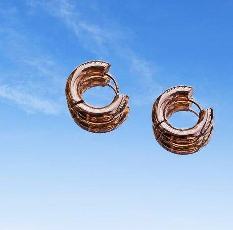 Ατσάλινα σκουλαρίκια #stainlesssteel #earrings #hoops #hoopsearrings #crete #chania #kantanos