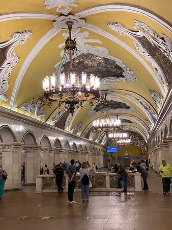 Moscow Metro Train Stations