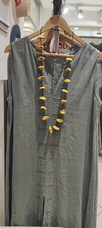 female dress shopping at AURA FASHION SHOP - Agia Pelagia Crete