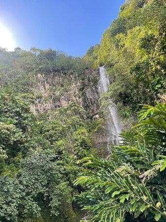 Waterfalls seen off side of road