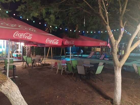 Rema is an amazing event venue and garden cafe surrounded by nature on the outskirts of Drama.  This place is a must for relaxing evenings in the massive garden with chillout music playing in the bar and a playground for children on the premises!