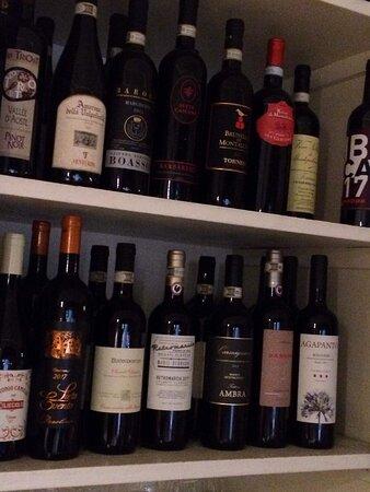 Une très belle carte des vins.