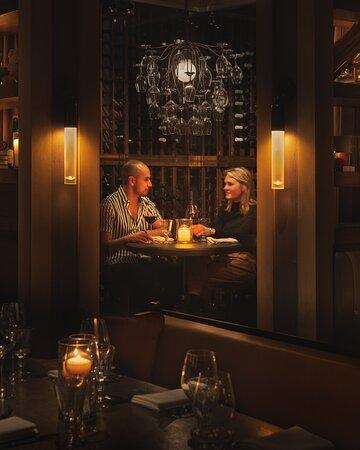 Romantic wine room.