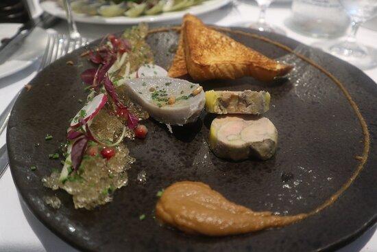 Fois gras terrine and sauterne jelly