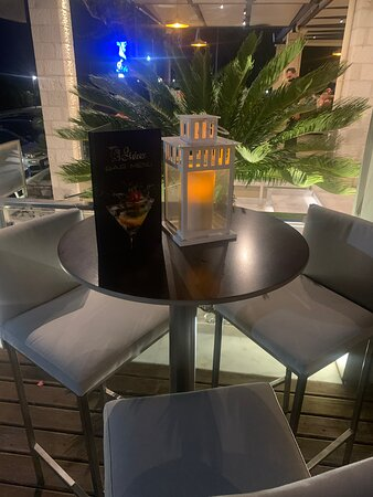 Romantic setting for a cocktail