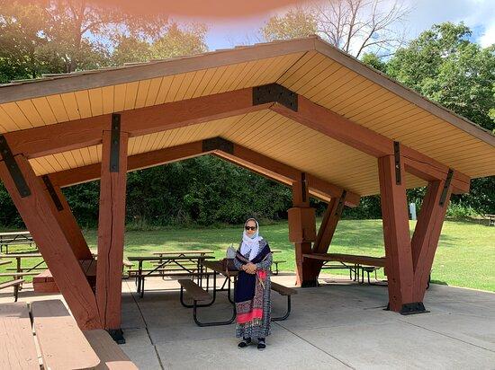 My wife Sabiha Sagri is in the picnic area.