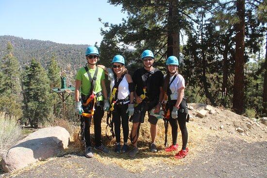 Zipline Tour - 9 high-speed ziplines & fun suspension bridge: Parents(early 50's), daughter(22), son(16)