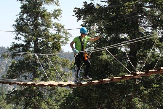 Zipline Tour - 9 high-speed ziplines & fun suspension bridge: rickety bridge