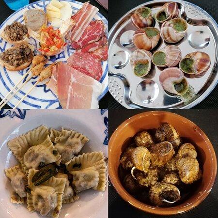 """Menù per """"chiocciolai"""": 🐌 fritte, 🐌 in salsa dei crostini, 🐌 alla Bourguignonne, 🐌 dentro i ravioli e 🐌 in umido 🤩"""