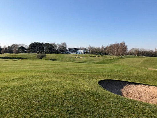 13th green view back to clubhouse