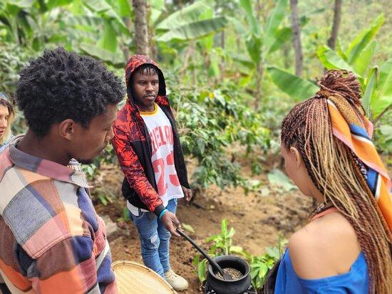 Arusha, Tanzania: Roasting the coffee